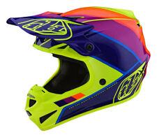 Troy Lee Designs SE4 MIPS POLY BETA Motocross Helmet Yellow Purple Adults