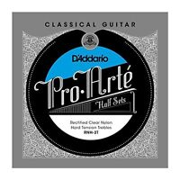 D'Addario Pro-Arte Rectified Clear Nylon Classical Guitar Half Set, Hard Tension
