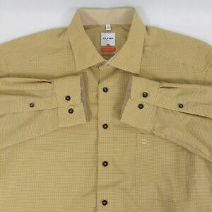 OLYMP LUXOR Modern Fit Button Down Mustard Dress Shirt French Collar Sz 17 (43)