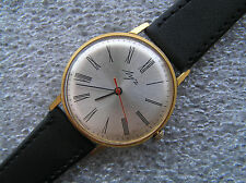 VINTAGE WATCH LUCH ULTRA SLIM 23 Jewels! GOLD PLATED Serviced