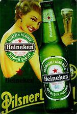 """Retro Blechschild Vintage Nostalgie look 20x30cm """"Heineken"""" neu"""