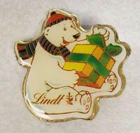 Lindt Chocolate Polar Bear Gift Lapel Pin Pinback Christmas Winter