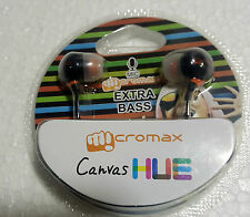 MICROMAX In-Ear Earphone Headphone with mic for all model -3.5mm Black&white