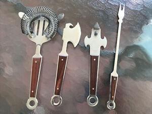 4 Pcs/Set Stainless Steel Bar Kit Home Cocktail Shaker Bar Tool Set Japan Made