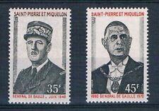 D0794 - SAINT-PIERRE ET MIQUELON - Timbres N° 419 et 420 Neufs** Gal de Gaulle