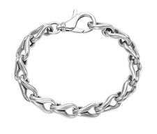 "Sterling Silver Open Claw Links 9"" Bracelet - BR183"