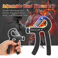 Adjustable 5-60KG Forearm Exerciser Heavy Grip Hand Gripper Strength Training B