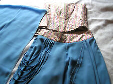 PAPILLON 3pc Boho PALAZZO PANTS BUSTIER SCARF sz 38 S/M SPECIAL OCCASION HOLIDAY