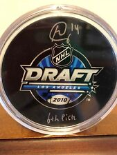 Brett Connolly 2010 NHL Draft Day Signed Auto Puck w/6th Pick Inscription