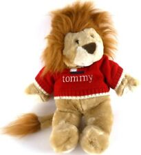 Tommy Hilfiger LION Plush in Red Tommy Sweater Stuffed Animal with Logo 16""