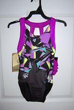 Gk Elite Gymnastics Leotard - Simone Biles - Adult Large - Purple Glass
