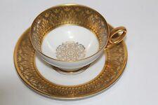 Vintage Bavaria Tirschenreuth Demitasse Teacup  Saucer Bone China. c 1969-1995