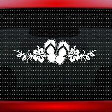 Hibiscus #6 Hawaiian Flower Cute Car Decal Window Sticker Flip Flop (20 COLORS!)