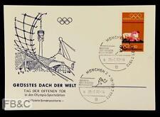 1972 Munich Olympics Stadium Souvenir Card - Largest Roof in the World