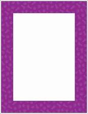 Paw Prints Printer Paper (NEW) Purple, animal tracks.
