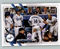 (12) 2021 Topps Series 1 LOS ANGELES DODGERS TEAM CARD Base Card Lot (x12) #201