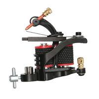 Black Professional Tattoo Coils Machine Gun Motor Shader Liner - 10 Wraps