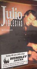 "40x60"" Huge Subway Poster~Julio Iglesias 1995 Tour Wembley Arena Concert Bill~"
