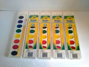 Crayola Washable Watercolors 8 Colors With Brush Pack of 5
