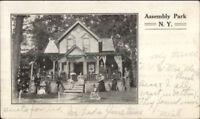 Assembly Park NY Postcard - Blodgett Mills NY Doane Cancel 1908