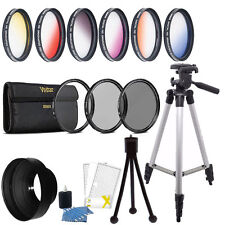 58mm Color Filter + UV CPL ND Accessory Kit Canon EOS Rebel T6i T6 T6s T5i T5 T4