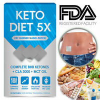 Keto BHB Diet Pills Weight Loss Supplement Appetite Suppressant ACV 30 Patches