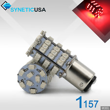 2x 1157 2357NA 2057 Dual Filament 57-SMD Red Brake Tail Stop LED Light Bulbs