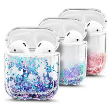 Para Apple airpods/airpods Pro caso cubierta de brillo líquido con clip de llavero