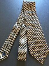 Awesome Vitaliano Pancaldi Silk Tie Sharp Browns Orange Blue Made In Italy