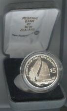 New Zealand America's Cup 2003 5 Dollars 2002 Proof Rare w/ COA