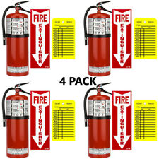 4 20lb Buckeye Abc Fire Extinguisher With Wall Hook Sign And Inspection Tag