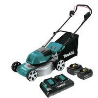 Makita XML03PT1 18V X2 LXT Li-Ion Lawn Mower Kit w/ (4) 5.0 Ah Batteries New