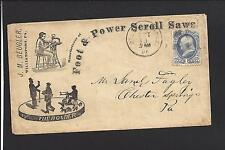 WILLIAMSPORT, PENNSYLVANIA COVER,1CT BANKNOTE,ILLUST, BEUGLER, SCROLL SAWS.