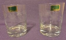2 Lausitzer Glas Glass Co. German Democratic Republic Gdr Crystal Etched Barware
