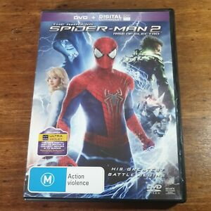 The Amazing Spider-man 2 RISE OF ELECTRO DVD R4 LIKE NEW FREE POST