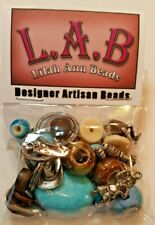 Lilah Ann Beads Package, Cowboy Theme, Natural Beads and Charms- A-A516