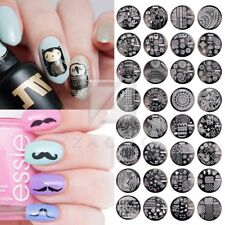 Qgirl Nail Stamp Plate for DIY Manicure Metal Image Tip Decor 40 Style Round