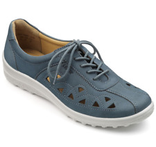 Hotter Daytime Womens UK 7.5 STD Blue River Nubuck Cutout Casual Shoes Trainers