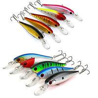 New Lot 10pcs Kinds of Fishing Lures Crankbaits Hooks Minnow Baits Tackle Kit