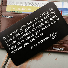 I Love You Personalised Metal Wallet Card Gifts for Men Women Husband Wife W11