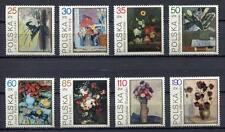 35999) POLAND 1989 MNH** Flowerpaintings 8v
