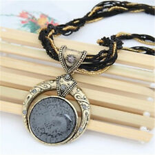 Multilayer Crystal Gem Dream Moon Jewelry Pendant Necklace