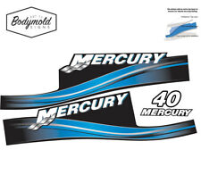 Mercury 2017 outboard decals 2 stroke 40hp blue set