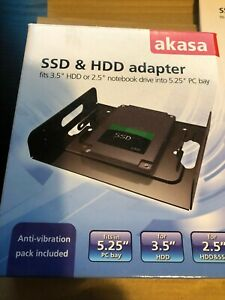 "Akasa SSD & HDD adapter fits 3.5"" or 2.5"" Drive to 5.25"" bay - AK-HDA-01 (A)"