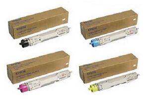 4 x Original Toner EPSON Aculaser C4000 / S050091 S050090 -S050088 Cartridge SET