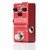Donner Booster Boost Guitar Effect Pedal Super Mini Pedal MID/NORMAL Mode