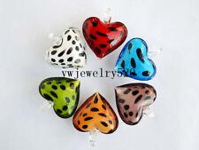 Wholesale Lots jewelry 12pcs Heart murano glass pendant Fit necklace FREE
