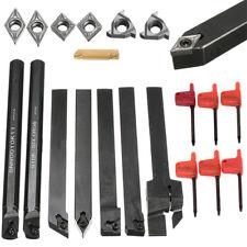 Lot de 7 portes outils DCMT/CCMT avec 7 outils en carbures alésage tours + clé