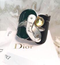 """$3100 Runway DIOR """"Men In Dior"""" Limited Edition Howlite Cuff Bracelet"""