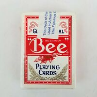 Bee Playing Cards Casino Club Special Crystal Bay Cambric Finish Made In USA NEW